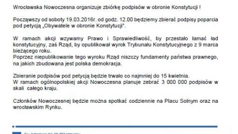 """Petycja """"Obywatele w obronie Konstytucji"""""""