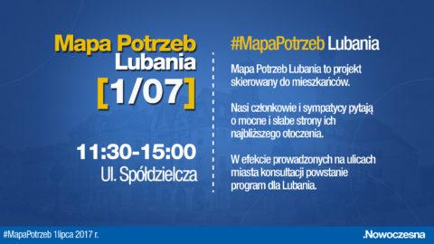 #MapaPotrzeb Lubania