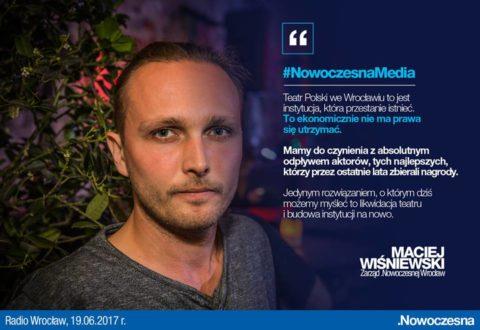 Wiśniewski: Jedynym rozwiązaniem dla Teatru Polskiego jest jego likwidacja i zbudowanie na nowo