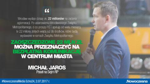 Jaros: Związek Metropolitalny pozwoli oszczędzić ponad 20 mln zł rocznie