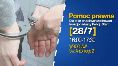 Pomoc prawna dla ofiar brutalnych interwencji funkcjonariuszy Policji