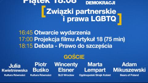 16:45 i 18:15 NA ŻYWO: Prawa społeczności LGBTQ – LWD dzień 15.