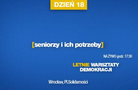 NA ŻYWO: Seniorzy i ich potrzeby – LWD dzień 18.