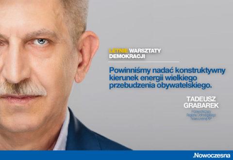 Grabarek: powinniśmy nadać konstruktywny kierunek energii przebudzenia obywatelskiego